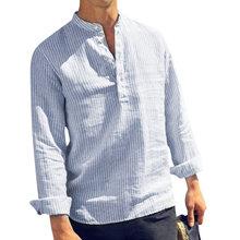 Drop Shipping 2019 Spring Summer Long Sleeve Shirt Men Solid
