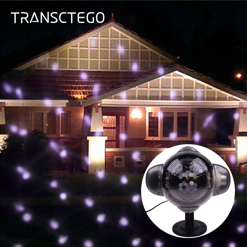 Snowfall LED Projector Light Outdoor Christmas Snowflake Waterproof Decorative Lawn Lamp Garden Halloween Holiday Night Light 12 type rgb led snowflake projector light garden landscape light lawn lamp christmas light outdoor holiday decoration spotlight
