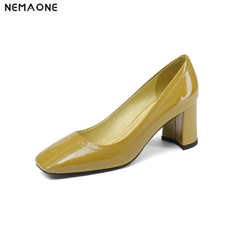 2019 Genuine Leather Large Size 34 41 Fashion Sexy Pumps Lady Solid slip on Shoes Woman