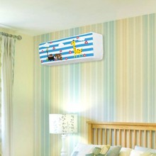 BF040 Elastic full package hanging type air conditioner cover cartoon pattern elastic fabric dust 90*32*30