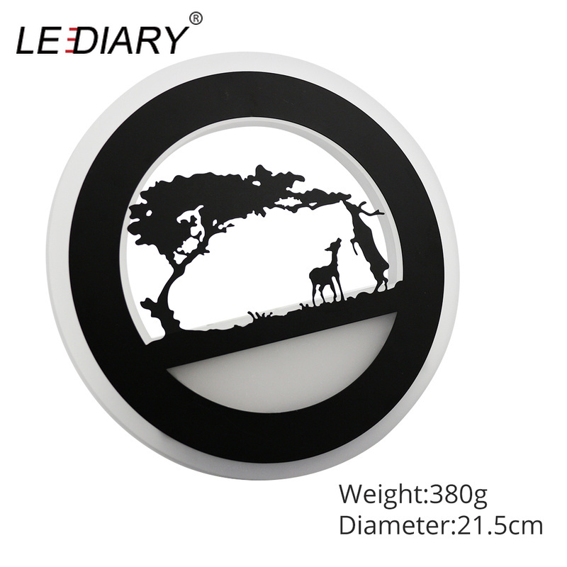 Image 4 - LEDIARY Retro LED Wall Lamp Creative Painting 110 240V Modern Black Sconce Decoration For Bathroom Living Bed Room Animal-in LED Indoor Wall Lamps from Lights & Lighting