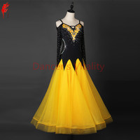 Girls ballroom dance dress Women ballroom dancing clothing sexy spandex stones ballroom dance dress for dance wear S 6XL