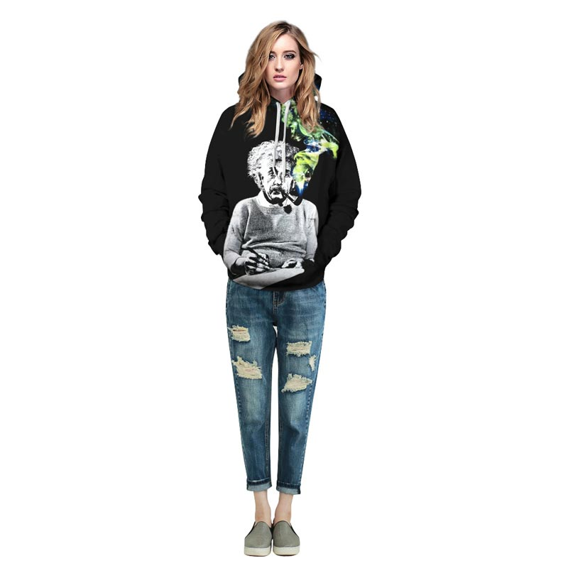 Einstein Hoodies Men/Women Sweatshirts 3d Print Einstein Smoking Thin Einstein Smoking Thin hoodies HTB1qm