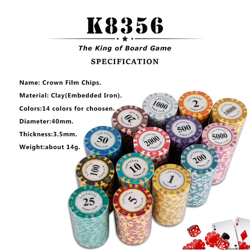 US $8 92 48% OFF|K8356 25PCS/Lot 14g Double Color Crown Film Clay Texas  Hold'em Chip Poker Playing Card Chips Mahjong Baccarat Coin Custom Chips  -in