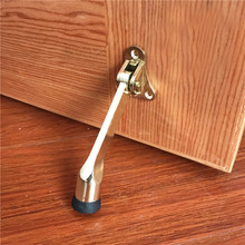 Zinc Alloy Kickdown Auto Acending Door Stops Lever Holder Rubber Satin Chrome Office Stopper