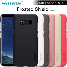 for Samsung S8 Case Nillkin Frosted Shield Matte Hard Plastic PC Back Phone Cover for Samsung Galaxy S8 Plus Gift Screen Flim