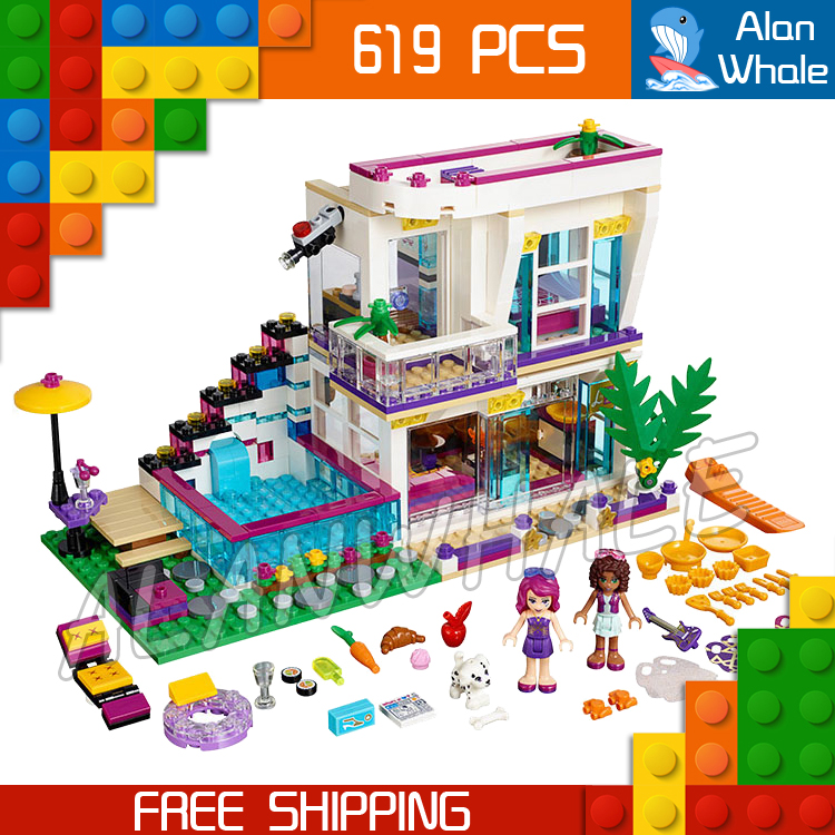 619pcs 10498 Friends Livi's Pop Star House Mixed Building Brick Blocks Sets Kit Toys girls Compatible With Lego 2017 hot sale girls city dream house building brick blocks sets gift toys for children compatible with lepine friends