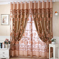 Luxury Purple Curtains For Living Room Flower Bead Cortinas Window Sheer Curtain Drapes Jacquard Organza Tulle Voile 250*100CM