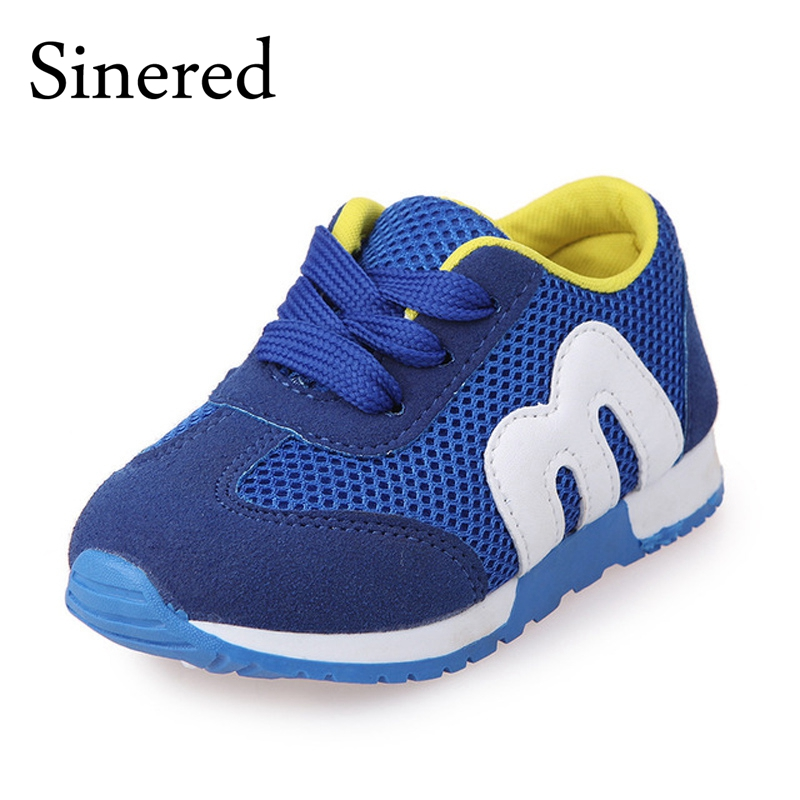Sinered 2018 childrens mesh casual shoes kids sports M alphabet soft bottom safty quality fashion sneakers for girls boys shoes