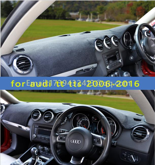 цена на dashmats car-styling accessories dashboard cover for audi tt tts MK1 mk2 8j 2006 2007 2008 2011 2013 2013 2015 2016 RHD