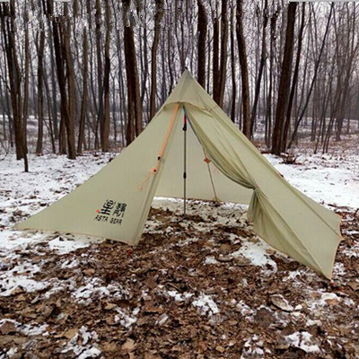 490G Oudoor Ultralight carpas C&ing teepee Tent 4 Season 1 Person Both Sides Silicone barraca lightweight Pyramid Rodless Tent-in Tents from Sports ... & 490G Oudoor Ultralight carpas Camping teepee Tent 4 Season 1 ...