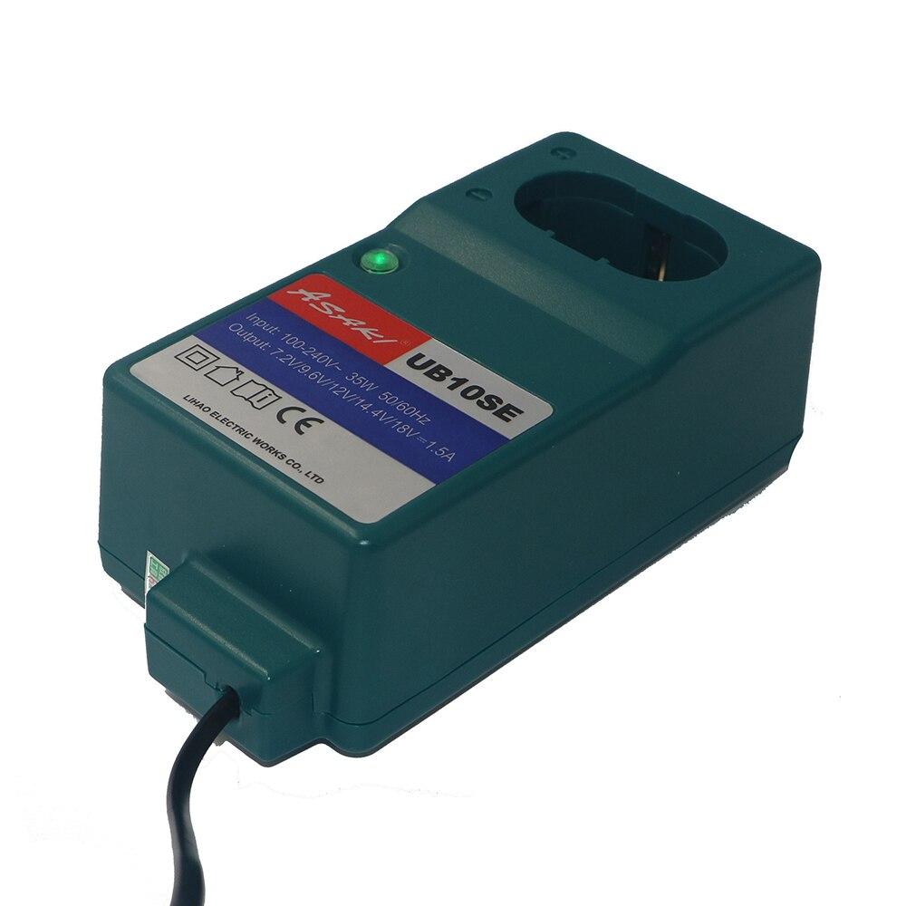 Replacement Battery Charger for Makita 7.2V 9.6V 12V 14.4V 18V & Hitachi 12V NI-CD NI-MH DC1804 DC1414T DC1414F 9100A 9001