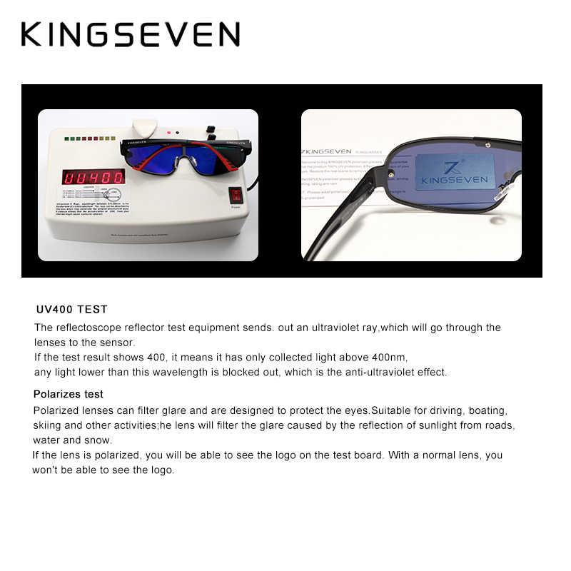 Kingseven design nova marca de alumínio dos homens óculos de sol hd polarizado lente integrada óculos óculos óculos de sol óculos de sol