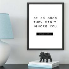Be So Good Quotes Art Canvas Prints Inspiring Wall Picture Black And White Posters For Bedroom Studying Home Decoration No Frame
