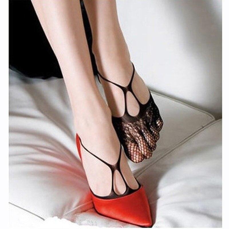 Очаровательные женские сексуальные сетчатые носки с кружевной подкладкой