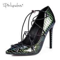 Rose palmiers Mary Jane chaussures dans les escarpins pour femmes Sexy robe chaussures croisées chrysobéryl serpent imprimé verni chaussures en polyuréthane sandales pour femmes