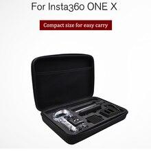 Insta360 um x acessórios peças venture caso bala pacote de tempo selfie vara rotação lidar com estojo de transporte 360 câmera de vídeo saco