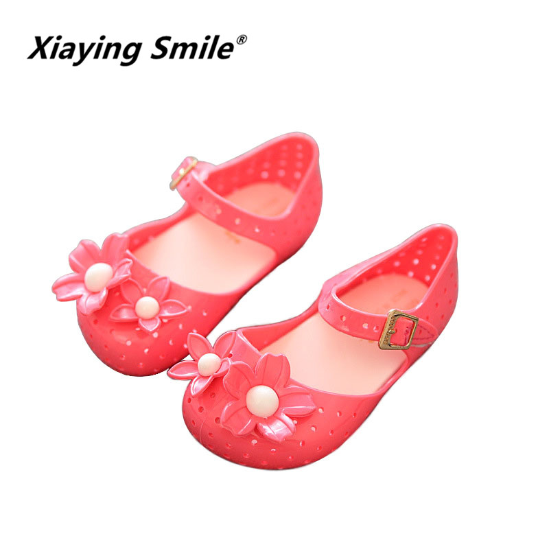 Xiaying Smile children Jelly hollowed out shoes 2018 New Style Summer Flower baby boys girls casual comfortable kids sandals