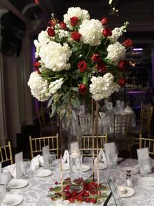 Wedding Table Centerpiece Column-Stand Flower-Vase Party-Decoration Event Metal Gold