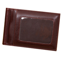 Bright PU Leather 2 Folds Money Clip Men High Quality Guarantee Card Organizer Luxury Business Style –BID093 PM49