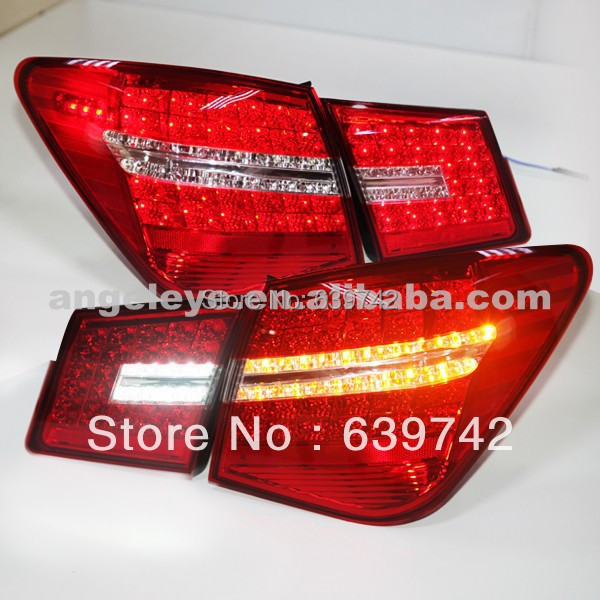 2009-2012 Year  For CHEVROLET Cruze  All LED Tail lamp Realights  red white for Mercedes Benz style  BW V4 mercedes actros 1844 2009