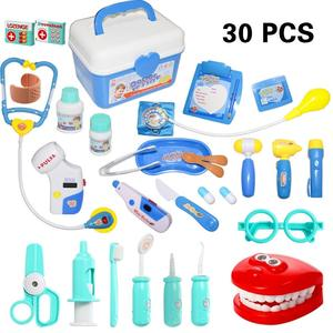 30 Pieces Doctor Kit Pretend Play Doctor Pretend Toy Doctor Kit for Toddler, Kids, Girls and Boys
