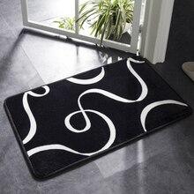 Супермягкий впитыватель коврик для ванной черно-белый геометрический Коврик для ванной комнаты нескользящий коврик для ванной комнаты кухонный Противоскользящий коврик