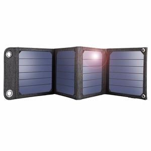 Image 3 - لوحات شمسية محمولة من Suaoki بقدرة 14 وات مزودة بشاحن 5 فولت و2. 1 أمبير تعمل بمنفذ USB للهواتف الذكية وأجهزة الكمبيوتر المحمول الخارجية