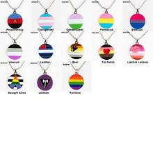 Necklace Badge Bisexual Pride Badge-Pins-Brooch Lapel-Pin Rainbow LGBT