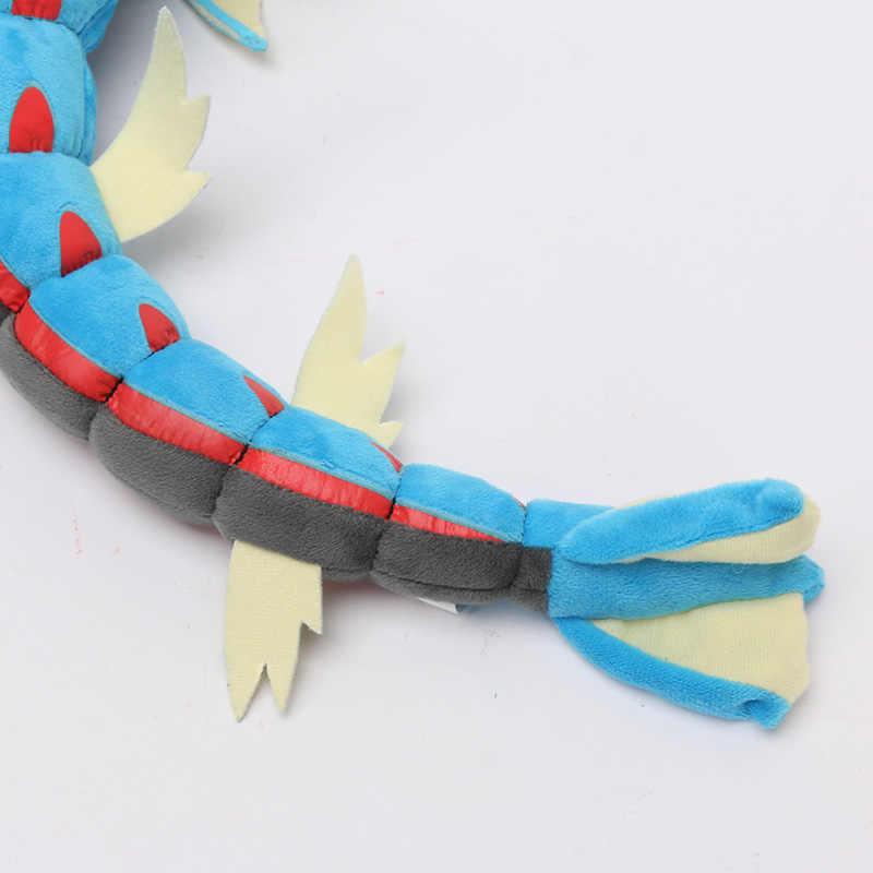 Estilo 2 55 centímetros Anime Boneca Mega Gyarados Brinquedo de Pelúcia Vermelho Dragão Azul Macia Bichos de pelúcia Boneca de Presente para Crianças
