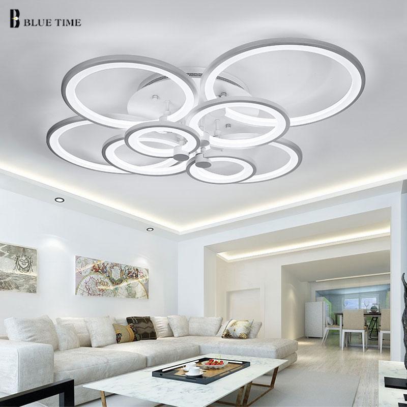 Blanco y negro moderno LED araña para sala de estar dormitorio - Iluminación interior - foto 2
