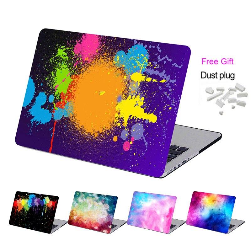 Vmonv Sky Art Print Plastic Laptop Case for MacBook Air Pro Retina 11 12 13 15 Touch Bar Case for Macbook Pro A1707 A1706 A1708