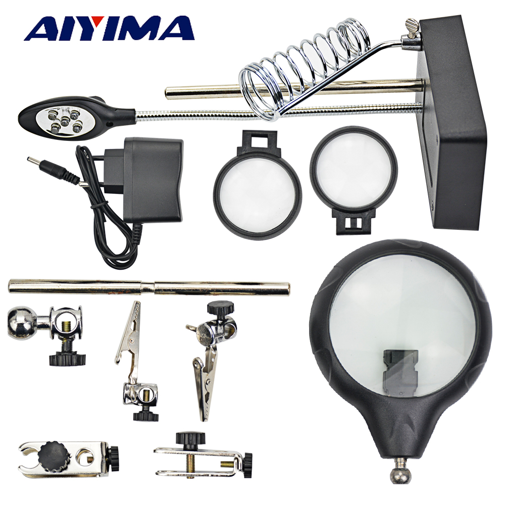 Aiyima Pcb Holder With Light And Magnifying Glass Main Board Printed Circuit Pcba Segway Buy Ciruit Repair Auxiliary Tool Workbench Scaffolding Multi Function In Parts From Tools On