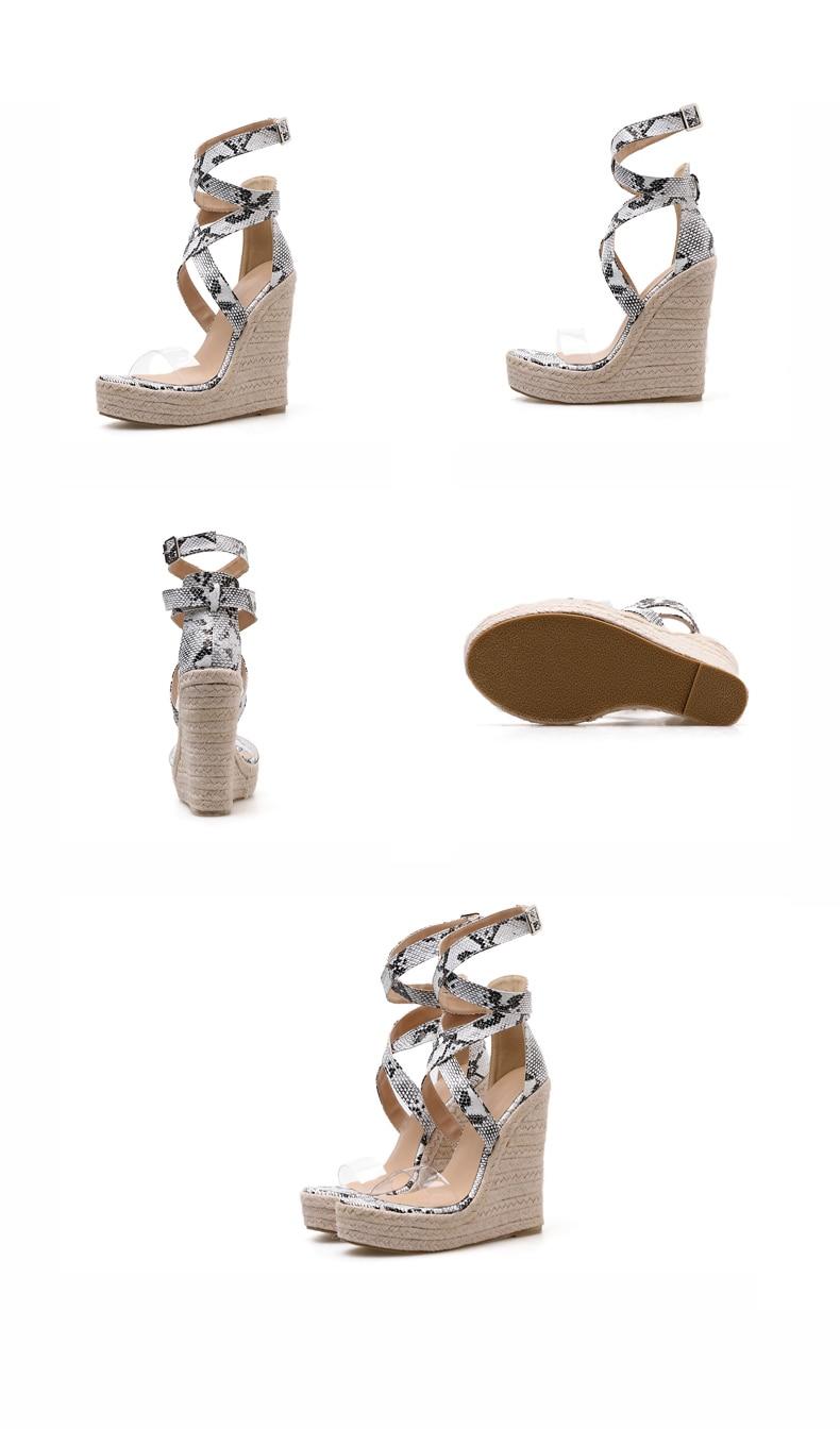 Eilyken Summer Women Platform Sandals Gladiator Fashion High heels Wedges Espadrilles shoes Ladies Open toe Sandals Serpentine