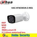 4MP WDR Dahua HDCVI Пуля ИК Камера HAC-HFW2401R-Z-IRE6 с переменным фокусным расстоянием 2.7-12 мм моторизованный объектив Макс IR60m Смарт ИК IP67 камеры