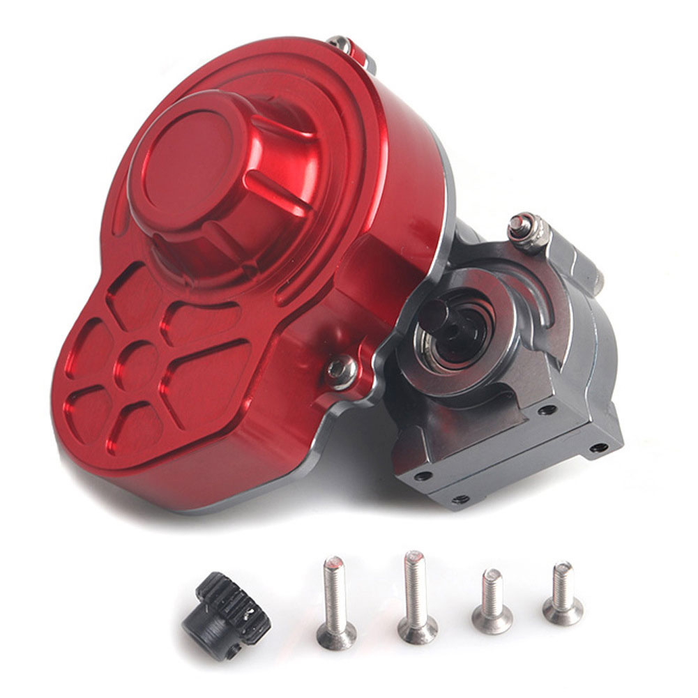 1/10 Stable Transmission Gearbox Kit RC Car Parts Crawler Toy With Gear Lightweight Protective Cover Full Metal For AXIAL SCX10