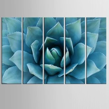 5 panel  Green Leaf Flowers Plant Canvas Print Poster Wall Picture Home Decor Painting