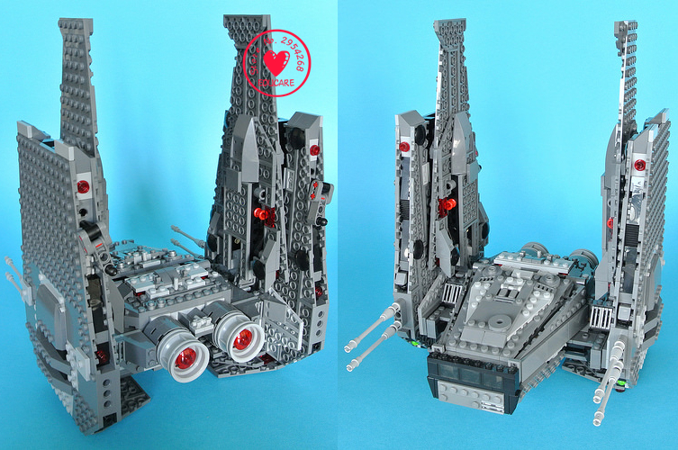 Star Wars Kylo Ren Komando Shuttle fit legoings star wars angka mainan diy model blok bangunan batu bata baru 75104 hadiah anak ...