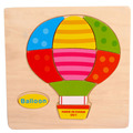 High Quality Wooden Balloon Puzzle Educational Developmental Baby Kids Training Toy Aug24