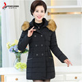 Abrigos Mujer Invierno 2016 Women Winter Thicken Coats Warm Wide-Waisted Parka Female Jackets A2573