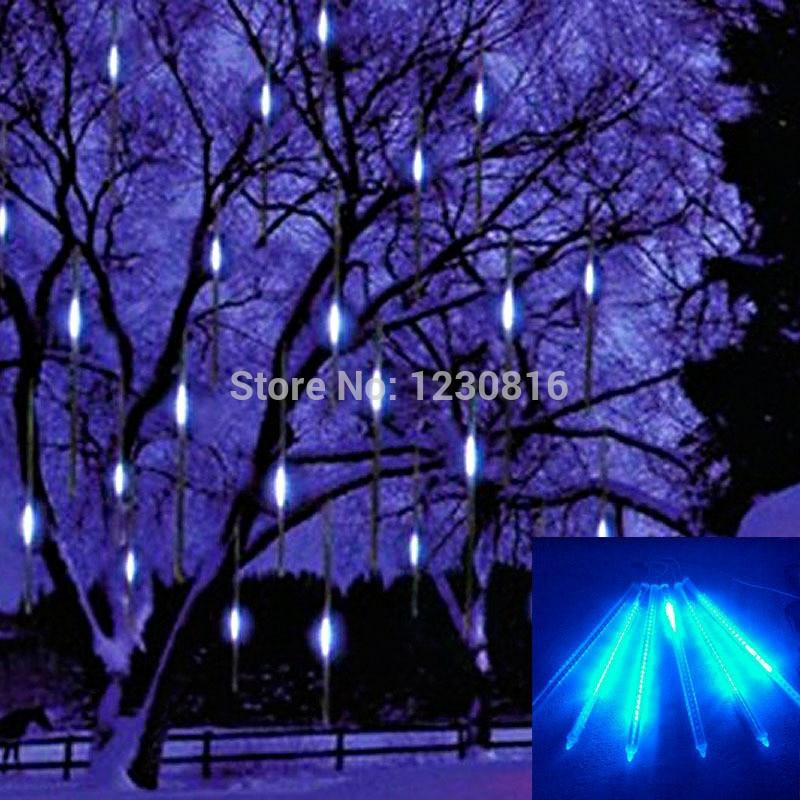 Us 10 66 20 Off 30cm Meteor Shower Rain S Led Light Lamp 100 240v Eu Plug Christmas String Wedding Garden Tree Decoration In