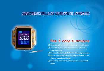 New household healthy laser therapy instrument to treat hypertension,diabetes,rhinitis,cholesterol,cerebral thrombosis