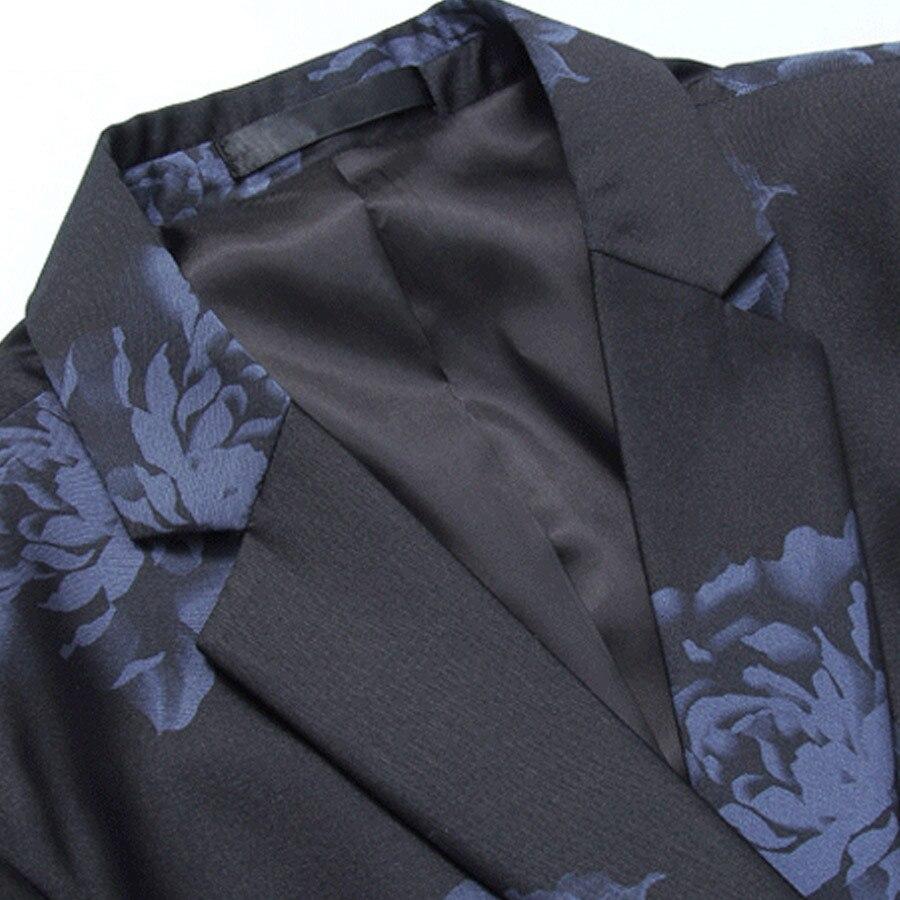 Mannen Gedrukt Blazer Merk Business Formele Luxe Blazer Pak Mannelijke M 6XL Katoen Casual Slim Fit Wedding Party Masculino SL K256 - 4