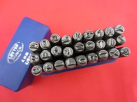 Free Shipping Jewelry Punches 27pcs 3 MM Capital Letter A Z Punch Stamp Set Steel Punch