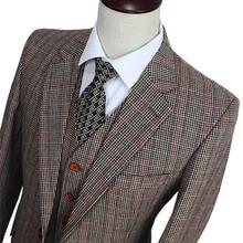 Шерстяной коричневый классический твид на заказ приталенный мужской костюм из 3 предметов джентльменский стиль портной свадебные вечерние платья костюмы для мужчин