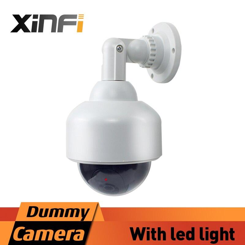 Xinfi caméra Factice Faux de Sécurité de Surveillance CCTV Caméra Intérieure Extérieure Faux CAMÉRA de Sécurité À Domicile LED Lumière