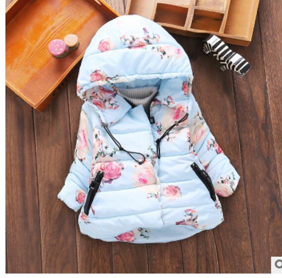 Actief Kinderkleding 2017 Winter Koreaanse Versie Van De Meisjes Mode Enkele Stuk Katoen Kinderkleding Afdrukken Peng Peng Gevoerde Jac Koop Nu