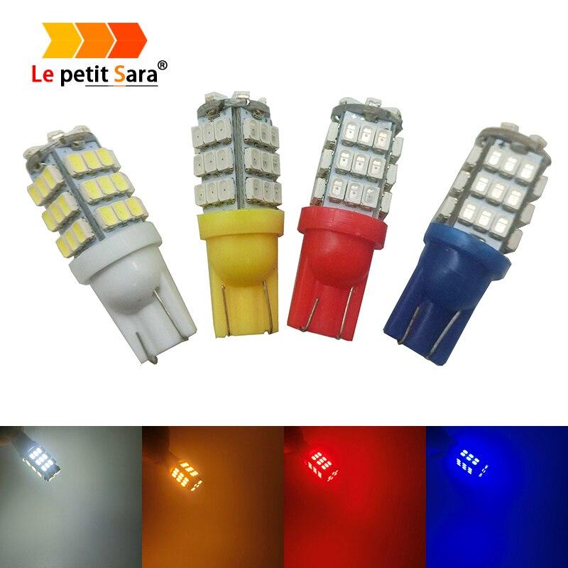 10Pcs Super Bright Car Led T10 42 Smd Led Car Light Bulbs W5W 194 1206 3020 42SMD 42Led Cold White Color DC12V