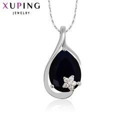 Xuping rod kolorowy platerowany kropla wody wisiorek z białym \ czerwony \ niebieski \ fioletowy prezent na boże narodzenie biżuteria 31673