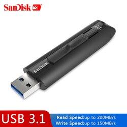 Sandisk Extreme USB Flash Drive High-Speed 200 MB/s Pena Drive CZ800 Memoria USB 64GB USB 3.1 Disk 128GB Flashdisk Memori Stick